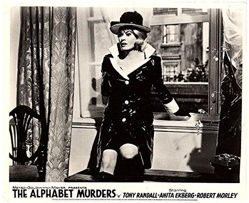 THE ALPHABET MURDERS ORIGINAL BRITISH LOBBY CARD ANITA EKBERG IN RAINCOAT Anita Coat