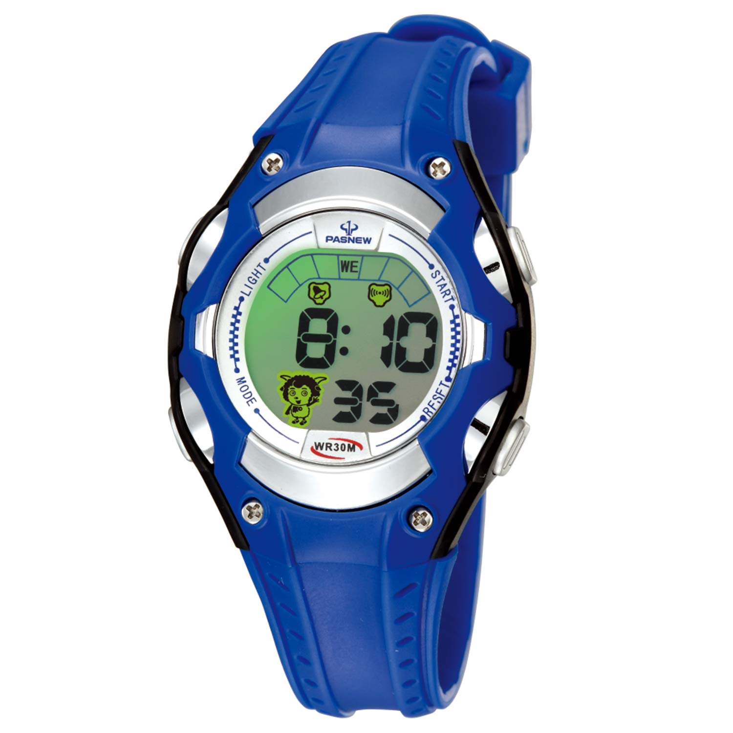 Boys Watches for Kids Sports Running Riding Swimming Climbing Durable Comfortable Multifunction 7 Colors Light LED Waterproof Digital Watch Gift for Boys Age 4-12 328bk