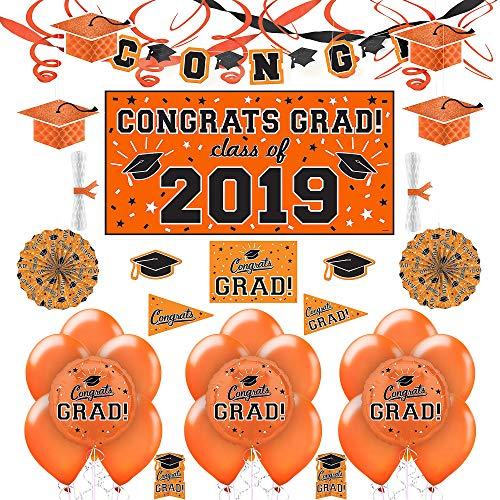 Black And Orange Decorating Kit - Party City Orange Congrats Grad 2019