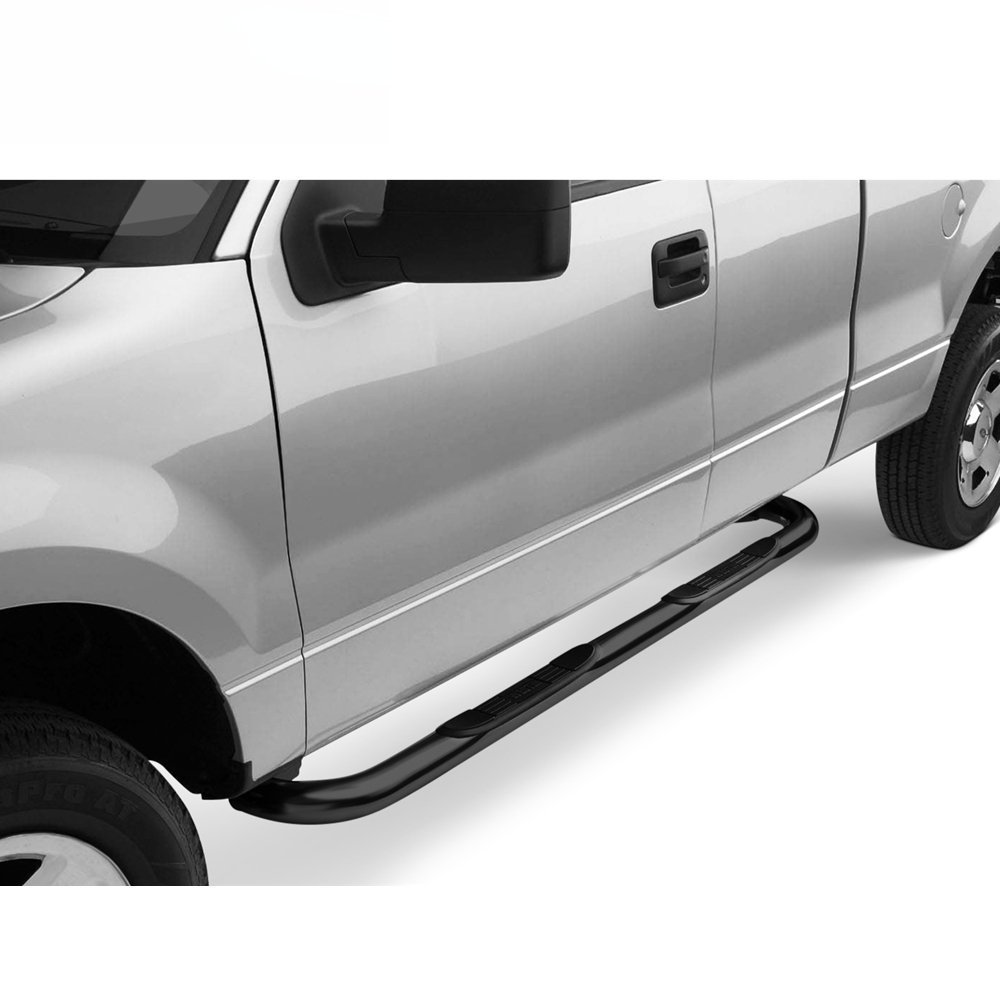 Dodge RAM 1500 Running Boards 4 Oval Curved Black Nerf Bars Side Steps for 2009-2018 2019 Classic 2010-2019 RAM 2500 3500 4500 5500 Crew Cab with 4 Full Size Doors