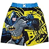 Batman Little Boys Yellow Black Character Image Printed Swimwear Shorts 2-4T