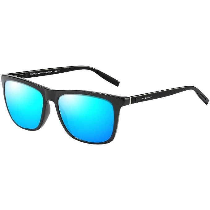 WHCREAT Gafas De Sol Polarizadas Unisex Vendimia Con Bisagra De Resortes Irrompibles Para Hombre y Mujer