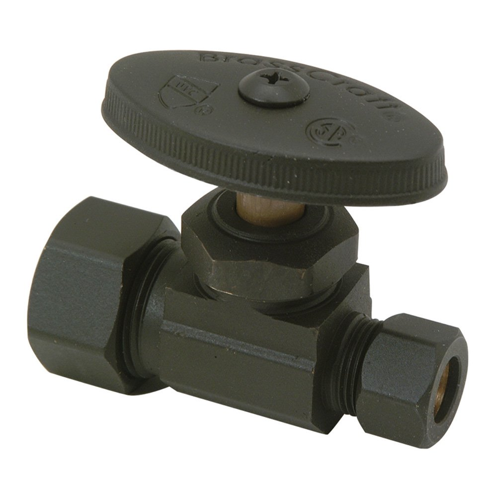 Brasscraft OCR14 BZ 1/2-Inch Nom Comp by 3/8-Inch OD Comp Angle Stop, Oil Rubbed Bronze
