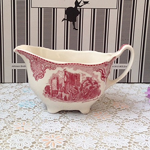 Castle Milk (BZCPZ Red scenery Castle tableware in Western dish coffee cup,Milk tank)