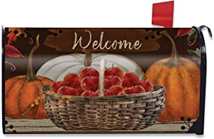 Briarwood Lane A Time to Gather Autumn Mailbox Cover Primitive Welcome Pumpkins Apples Standard