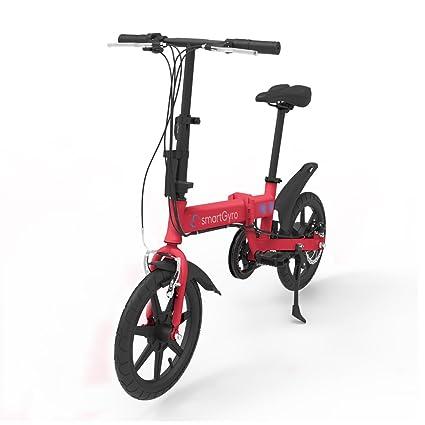 """SmartGyro Ebike Red - Bicicleta Eléctrica, Ruedas de 16"""", Asistente al Pedaleo,"""