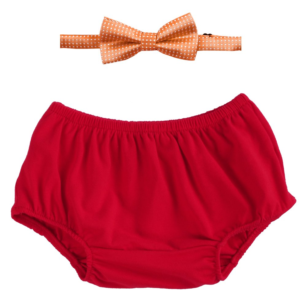 Newborn Baby Boys 1st//2nd Birthday Cake Smash Outfits Short Bloomers Pants Bow-Tie 2PCS Set Photo Props
