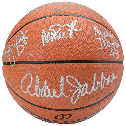 Los Angeles Lakers Autographed Showtime Basketball with 5 Signatures - BAS - Beckett Authentication - Autographed Basketballs