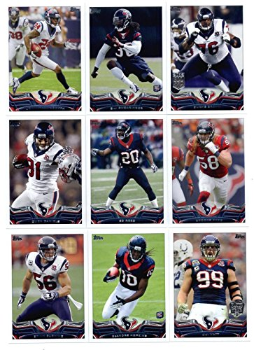 Houston Texans 2013 Topps NFL Football Complete Mint 14 Card Team Set Including Deandre Hopkins Rookie Card JJ Watt POY and Regular Card Plus