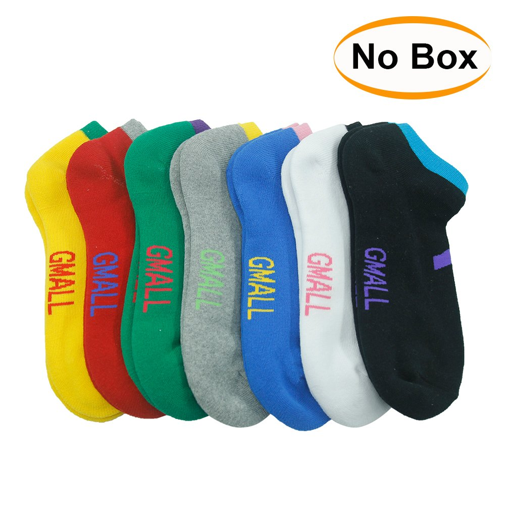 ID Socks, Gmall Cushioned Cotton Athletic Number Sports Low Cut Socks 7 Pairs
