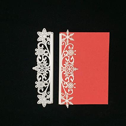 Christmas Frame Lace Pattern Snowflake Hot Foil Plate Dies Stencil Scrapbooking