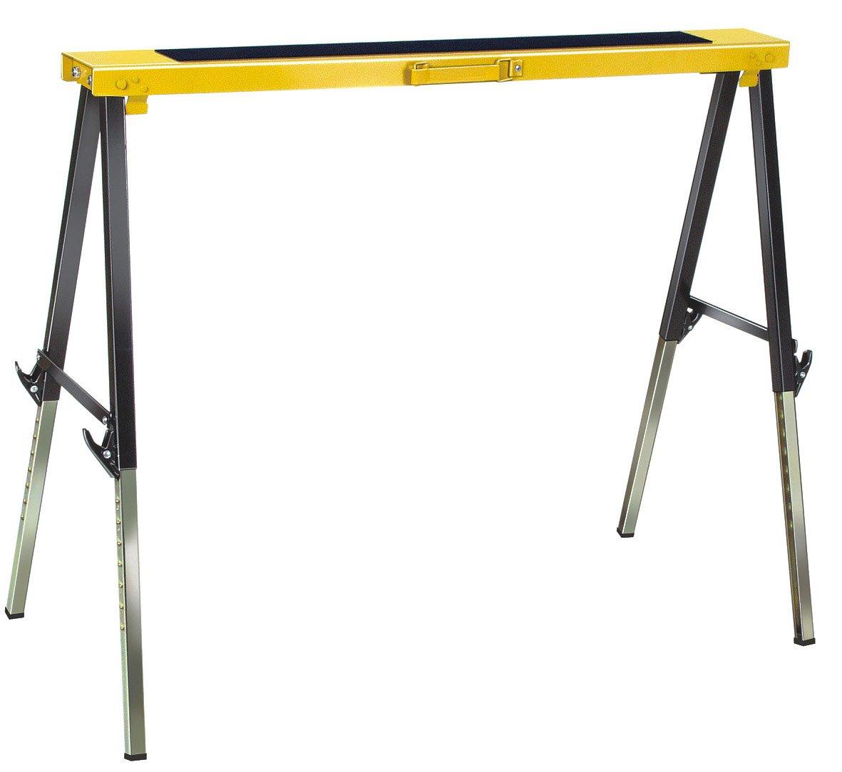 Brennenstuhl 1444610 MB 120 KH Tré teau de travail pliable, Noir/jaune/argent, 5 m