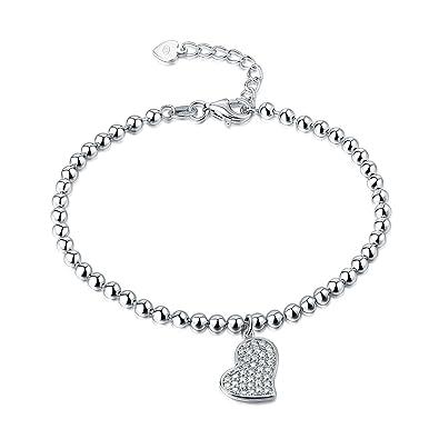 dfa763e5e5ed Diamond Treats Pulsera con Dije Corazón de Mujer