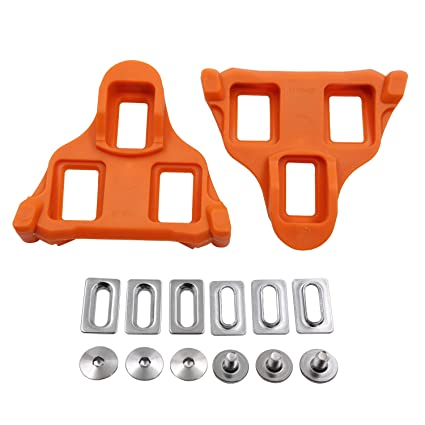 aa853844162 Mzyrh Road Bike Cleats 6 Degree Float Self-Locking Cycling Pedals Cleat for  SH-