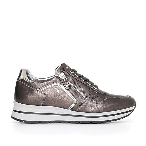 Nero Giardini A719480D 101 Antracite Sneaker Donna con Zeppa Media Nuova  Collezione Autunno Inverno 2017 2018  Amazon.it  Scarpe e borse 618105d71a3
