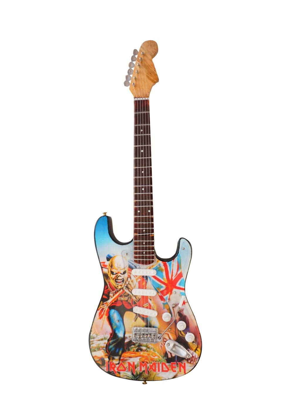 Shoponica Holz Miniatur-Gitarre Replica – Iron Maiden Trooper Tribute ML