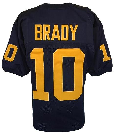 premium selection d920d f6c4b Tom Brady Unsigned Custom Blue College Football Jersey ...