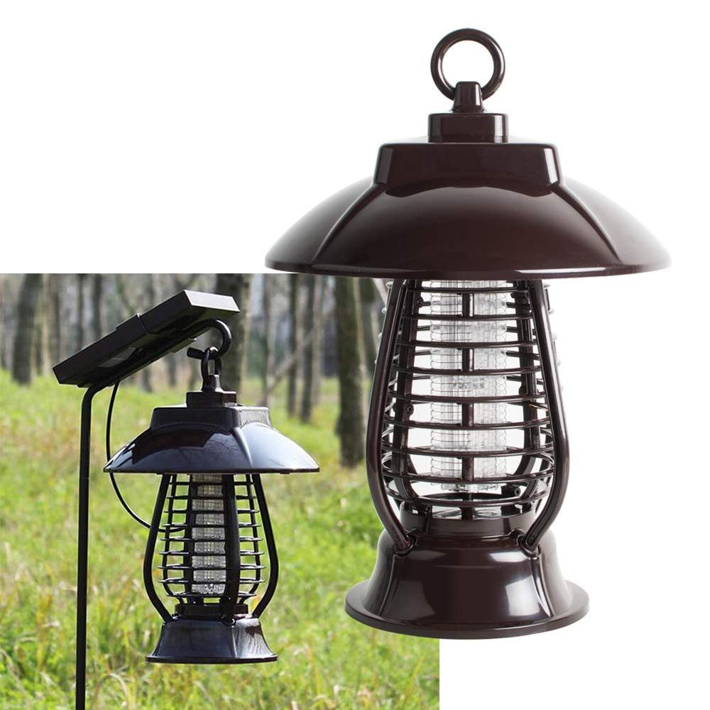 Funwill Solar Energy Mosquito Killer Light Mosquito Repeller Light Insect Killing Lamp for Gardens Outdoor Places Pest Reject