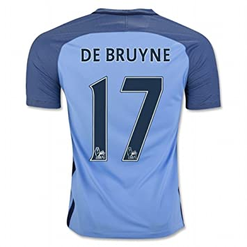 2016 2017 Manchester City FC 17 Kevin De Bruyne Home Football Soccer Jersey  In Blue For New Season  Amazon.ca  Books c0a80bc87