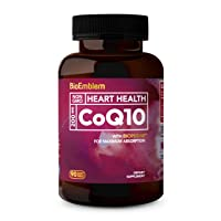 BioEmblem CoQ10 with BioPerine | Natural Form, Non-GMO | Superior Absorption | Coenzyme...