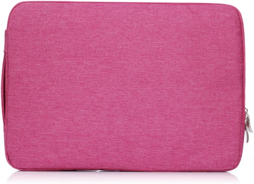 Wanfenglin Laptop Sleeve Case Polyester Multifunctional Carrying Bag Case Sleevefor 13-13.3 Inch Laptop,Notebook,MacBook Air/Pro (Hot Pink)