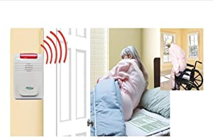 Smart Caregiver Wireless Alarm with Bed Sensor Pad and Chair Sensor Pad- No Alarm in Resident's Room!