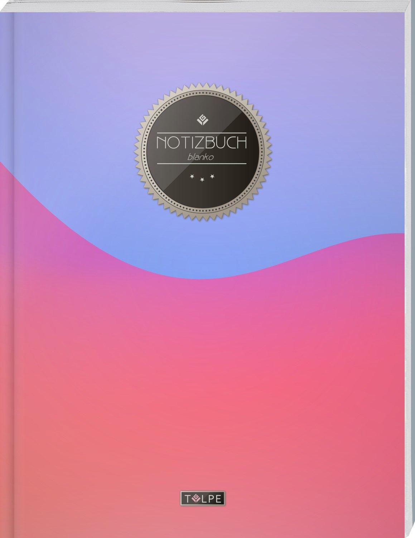 """TULPE Blanko Notizbuch A4 """"C117 Violett-Rosa"""" (140+ Seiten, Vintage Softcover, Seitenzahlen, Register, Weißes Papier - Dickes Notizheft, Skizzenbuch, Zeichenbuch, Blankobuch, Sketchbook) (Tedesco) Copertina flessibile – Stampa grande, 6 giu 2017 Leeres Zei"""