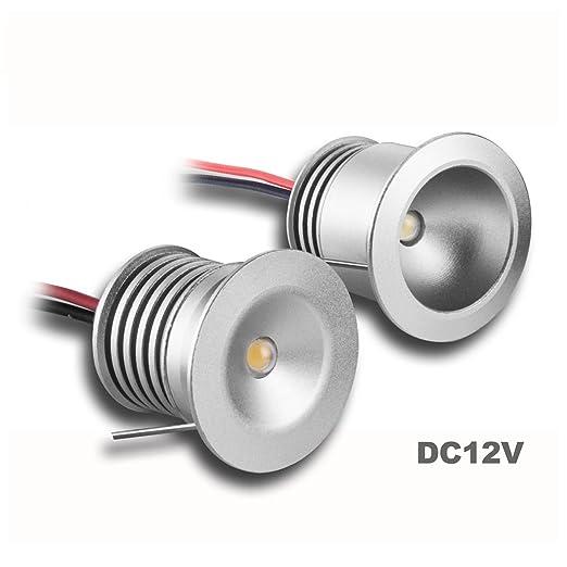 1 opinioni per Mini faretti LED da incasso, 12V, 1W, 6 pezzi, per vetrina, scale, angolo,