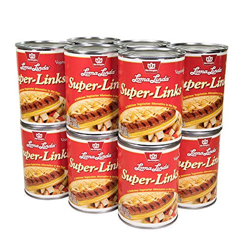 Loma Linda - Vegetarian - Super Links (19 oz.) (Pack of 12) - Kosher