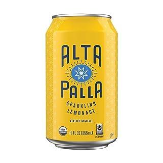 Alta Palla Lemonade Certified Organic Sparkling Juice, 12 Fluid Ounce Cans, 8 Count