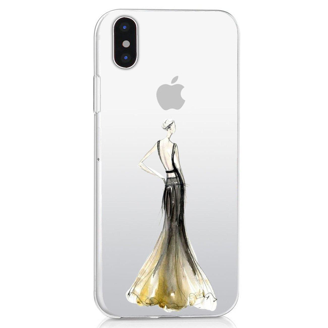 Caler Coque iPhone x, étui iphone x Case Cas Silicone TPU Ultra Fine anti-rayures Étui souple Housse de protection Coque Case Pour Apple Iphone x [Supporte la recharge sans fil]