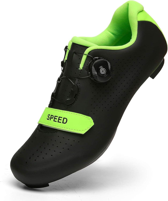 YuanRoad Mens Womens Cycling Shoes Road Bike Mountain Bike SPD//SPD-SL Compatible Peloton Shoes
