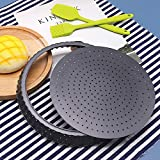 Tart Quiche Pan, 9.5 Inch Perforated Tart Pan with