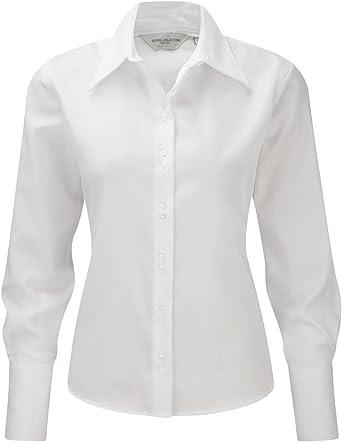 Russell Collection - Camisas - Manga Larga - para mujer: Amazon.es: Ropa y accesorios