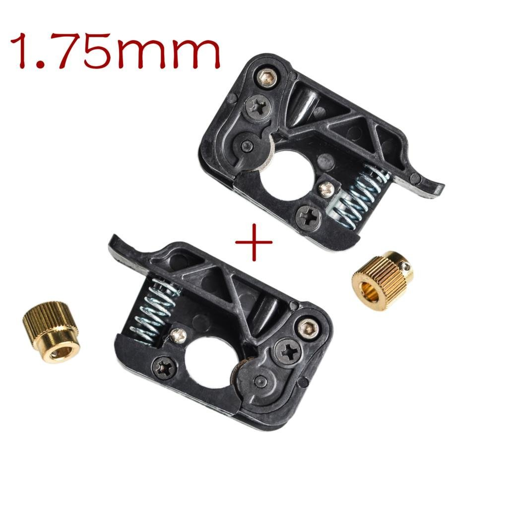 KINWAT 2pcs/lot 3D Printer MK9 / MK8 extruder 1.75mm Filament Wire Feed Device Kits (Left and Right Side) for Makerbot Dual Extrusion KNWAT U22-RT1257