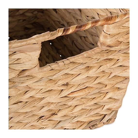 """DII Natural Water Hyacinth Storage Basket with Handles, Beige - SET OF 5 BASKETS: Includes two small (9x7x6""""), two medium (11x9x7""""), and one large (12.6x9x7.88"""") hyacinth baskets HAND-WOVEN: These baskets are hand-woven for that unique charm, so actual sizes may vary slightly SUFFICIENT STORAGE WITH STRONG CONSTRUCTION: Hyacinth storage baskets have a strong woven design with carrying handles for easy carrying - living-room-decor, living-room, baskets-storage - 61u7i%2B88ZmL. SS570  -"""