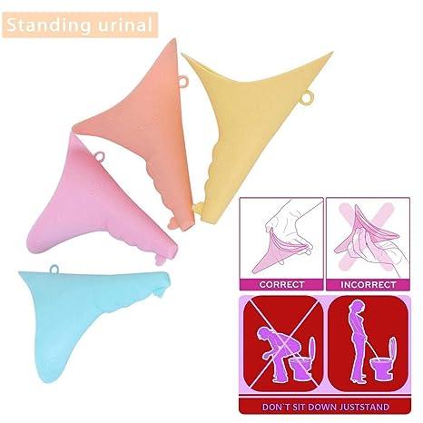 Molare 5 UNIDS Dispositivo de Orinar Femenino Dispositivo de Orinar de Silicona Reutilizable Embudo Pee para Viajar Camping Senderismo Al Aire Libre