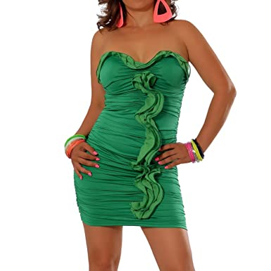 G044 Damen Kleid Cocktailkleid Abendkleid Ballkleid Trägerlos ...