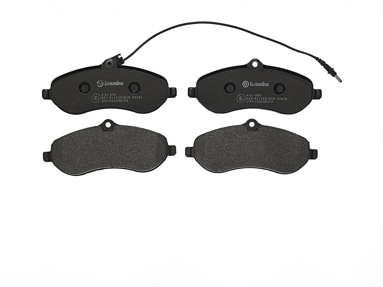 Set of 4 Brembo P61095 Rear Disc Brake Pad