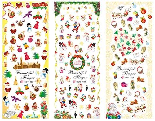 Nail Art Tool Black Friday Sales Promotions Putars Sexy 1 Big Sheet Christmas Nail Art Water Decal Transfer Sticker