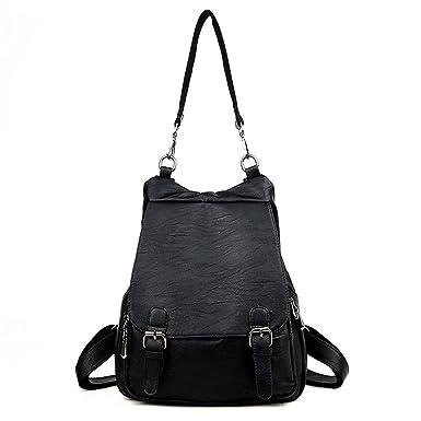 17122a30c684 Amazon.com | Women Backpacks Leather Female Travel Shoulder Bag ...