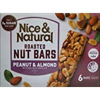 Nice & Natural Peanut and Almond Roasted Nut Bars with Real Milk Chocolate, 192g