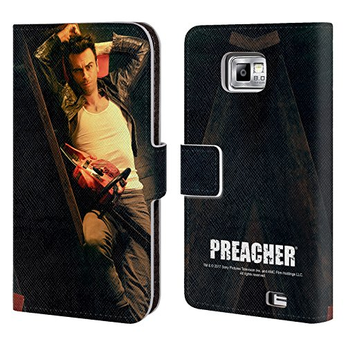 Official Preacher Chainsaw Cassidy Leather Book Wallet Case Cover For Samsung Galaxy S2 II I9100