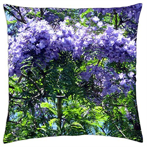 iRocket - Beautiful Jacaranda blossom - Throw Pillow Cover (18