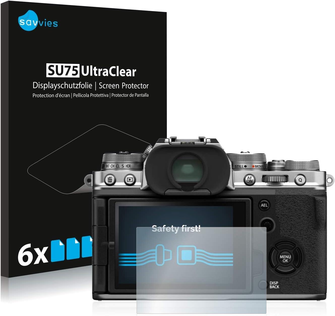 6 Unidades savvies Protector Pantalla Compatible con FujiFilm X-T4 Pelicula Ultra Transparente