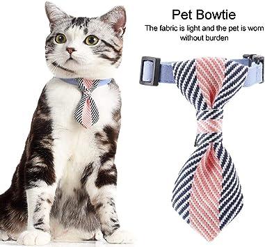 Corbata De Perro Ajustable Pequeño Gato Perro Pajarita Collar Moda ...