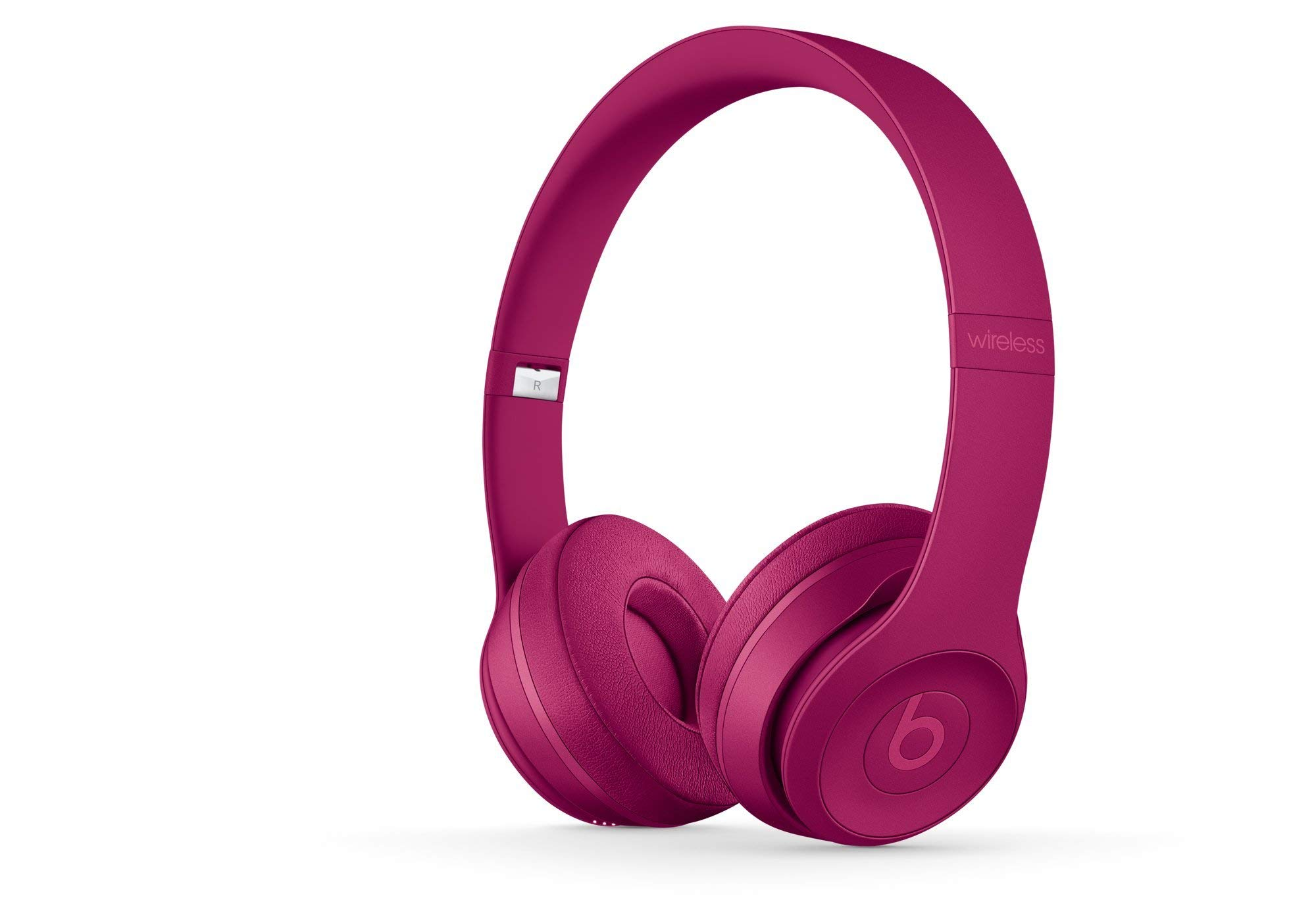 Beats Solo 3 Wireless On-Ear Headphones - Magenta Brick Red with Wicked Cushions (Renewed)