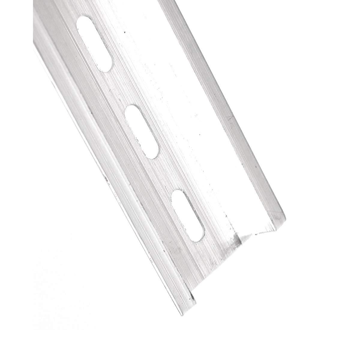 Aexit Metal U-Groove coulisses tiroir Rail DIN /à ton argent 25cm 5pcs 404S359