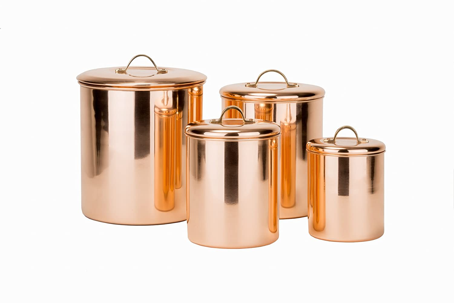 Genial Amazon.com: Old Dutch 4 Piece Copper Canister Set (1243): Kitchen U0026 Dining