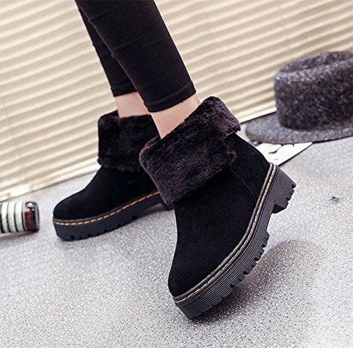 Martin Stivali scarpe fondo tela donna da scarpe tubo cotone con libero di moda stivali black donna stivali tempo plateau MEILI cashmere stivali caldo neve da nel scarpe da piatto più YWTnHHzA
